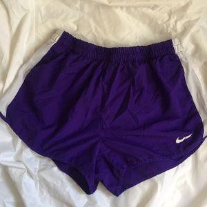Purple Nike Running Shorts SZ L, Good Cond.